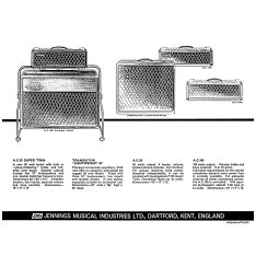Vox advert for the AC50 from autumn 1964