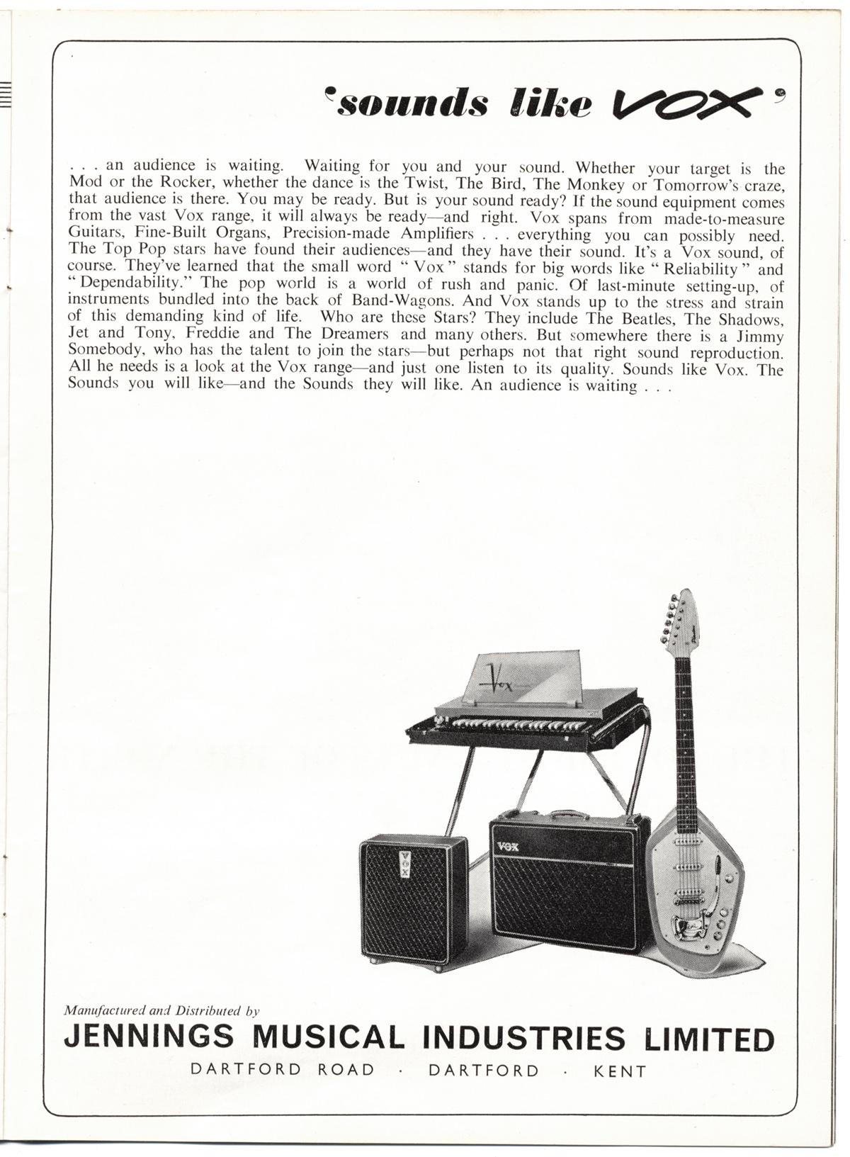 the vox ac50 amplifier