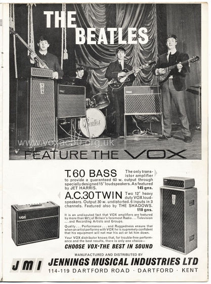 Beat Monthly magazine, 1963, volume 2, Vox advert