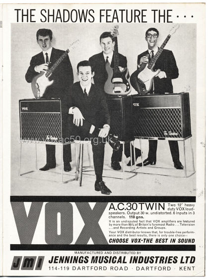 Beat Monthly magazine, 1963, volume 3, Vox advert