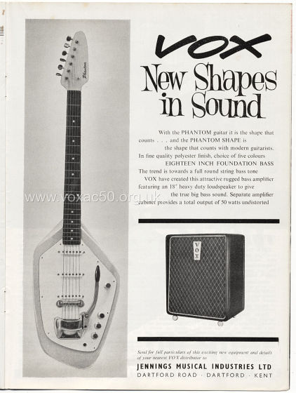 Beat Monthly magazine, 1963, volume 4, Vox advert