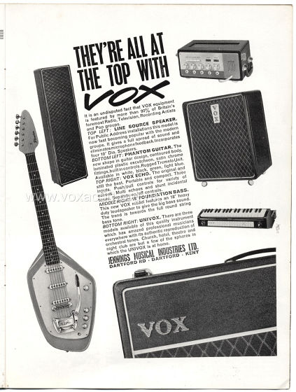 Beat Monthly magazine, 1963, volume 5, Vox advert