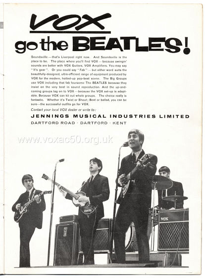 Beat Monthly magazine, 1963, volume 8, Vox advert