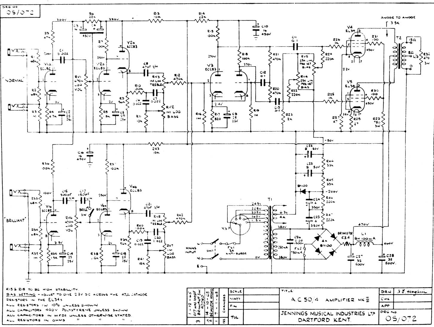 Vox Amp Schematic Wiring Diagram Sample Carvin Schematics Ac50 Amplifier Page Ac30 Around 5000 Amps Were Built To This Circuit