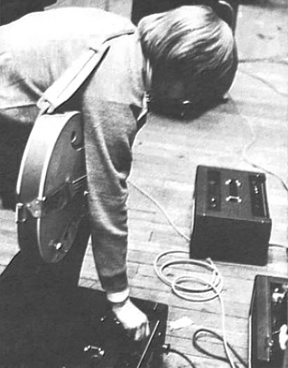 Brian Jones with Vox amplifiers, 1964