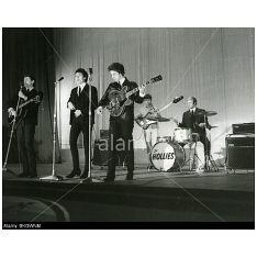 The Hollies on stage in early 1965