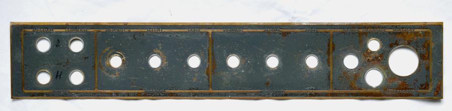 Vox AC50 mark III control panel