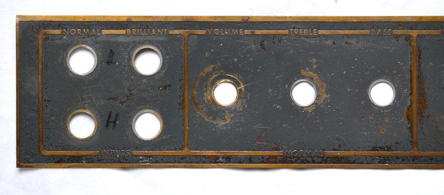 Vox AC50 mark III control panel, detail