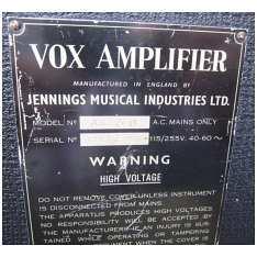 Vox AC50, large box, serial number 2147