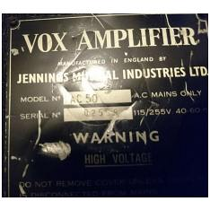 Vox Ac50, large box, serial number 2508