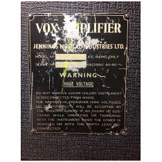 Vox Ac50, large box, serial number 2717
