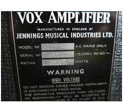Vox AC50, large box, serial number 4671